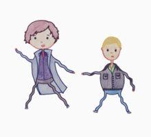 John and Sherlock on the Run Kids Clothes