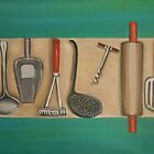 Vintage Utensils by Melissa Goza
