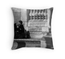 Nap in Paris Throw Pillow