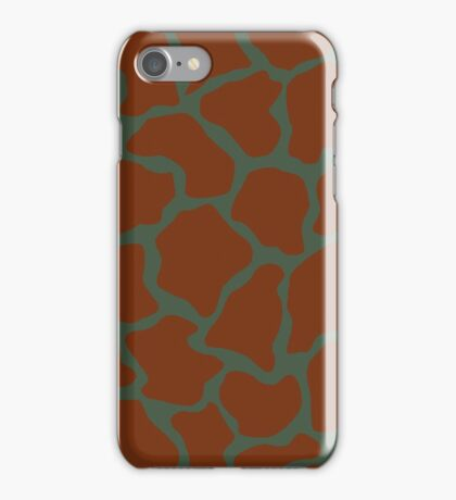 Gray-Asparagus in Giraffe Pattern  iPhone Case/Skin