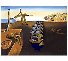 The persistence of Banana - Salvador Dali minion Photographic Print