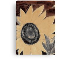 Oil Sunflower 1 Sepia Tone Poster Print Canvas Print