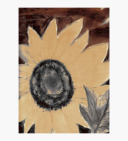 Oil Sunflower 1 Sepia Tone Poster Print Photographic Print
