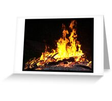 Firey Visions Greeting Card