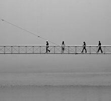 Four pedestrians by awefaul