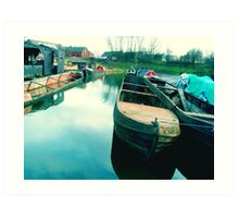 Abandoned Boats Art Print