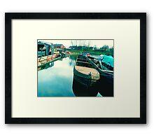 Abandoned Boats Framed Print