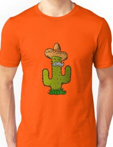 mexican cactus with mustache Unisex T-Shirt