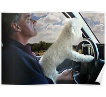 "☸•°*""˜SIT BACK AND RELAX - LET ME SHOW U HOW TO DRIVE CANINE STYLE--INCLUDED IS MY WRITTEN POEM""*°•☸ Poster"