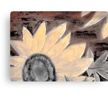 Oil Sunflower Sepia Painting poster print Canvas Print