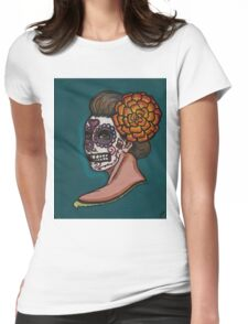 Flowers for the dead Womens Fitted T-Shirt