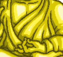 Buddha Gold Statue pixel art Sticker