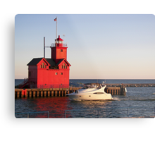 "Cruisin' By ""Big Red"" Metal Print"