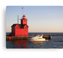 "Cruisin' By ""Big Red"" Canvas Print"