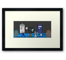 Doctor who vs portal2 Framed Print