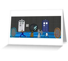 Doctor who vs portal2 Greeting Card