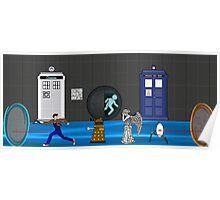 Doctor who vs portal2 Poster