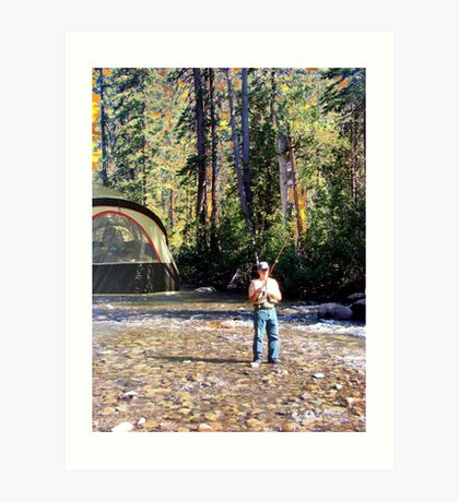 Fishing is the Most Important Thing on Earth! Art Print