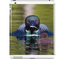 Take-out finally arrives - Common Loon - Buck Lake, Ontario iPad Case/Skin