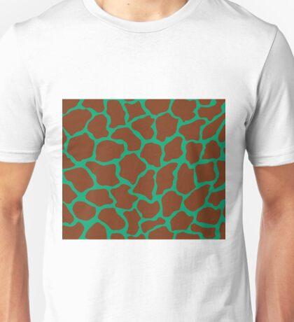 Green (Pantone) in Giraffe Pattern  Unisex T-Shirt