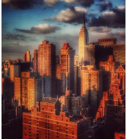 Empire State Building in Golden Sun Sticker