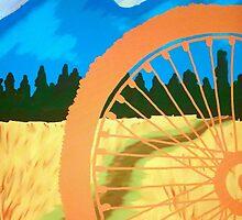 Mountain Biking Dirt Trail Scene by JodiErin