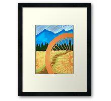 Mountain Biking Dirt Trail Scene Framed Print