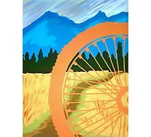Mountain Biking Dirt Trail Scene Photographic Print