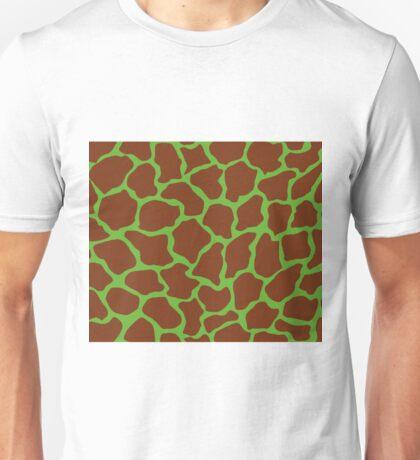Green (RYB) in Giraffe Pattern  Unisex T-Shirt