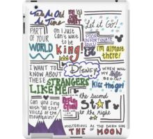 Disney Lyrics #1 iPad Case/Skin