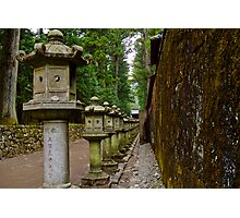 Nikko Lanterns Photographic Print