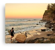 Rush Hour Moffat Beach Canvas Print