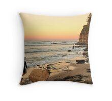 Rush Hour Moffat Beach Throw Pillow