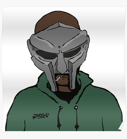 MF Doom - Cartoon Mask Poster