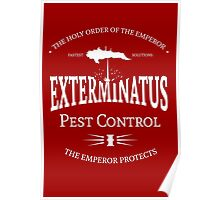 Exterminatus - White - Warhammer Poster