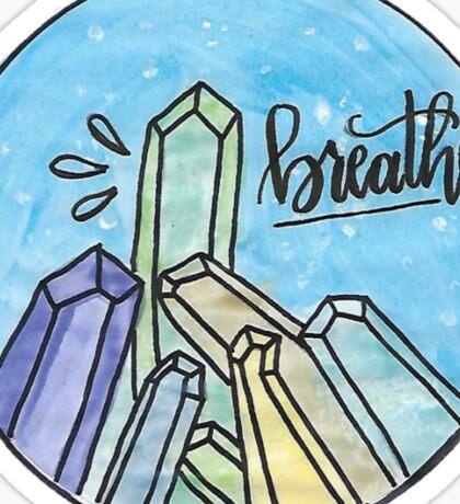 Crystal Breathe Watercolor Sticker