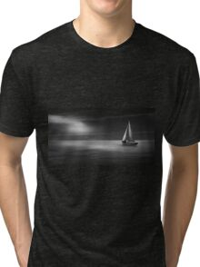 sailing boat on the sea Tri-blend T-Shirt