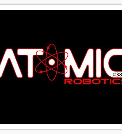 Atomic Robotics Logo White on Black Sticker