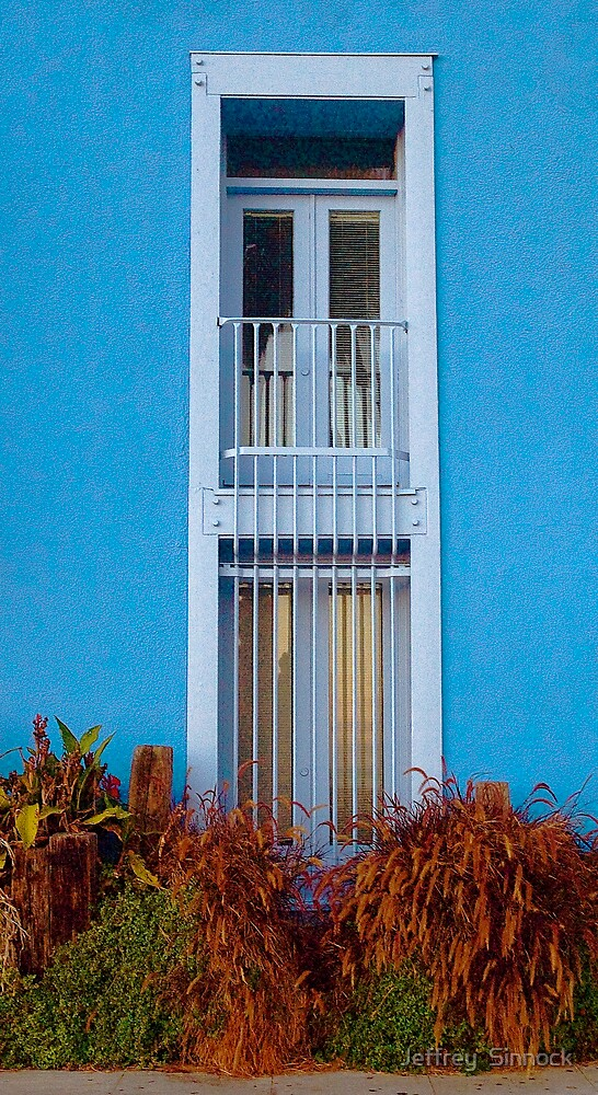 Blue window by Jeffrey  Sinnock