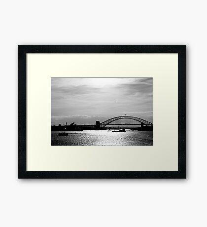 Sydney Sunset Framed Print