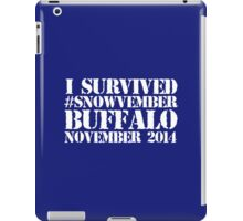 Cool 'I survived #snowvember Buffalo November 2014' Snowstorm T-Shirt and Accessories iPad Case/Skin