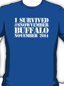 Cool 'I survived #snowvember Buffalo November 2014' Snowstorm T-Shirt and Accessories T-Shirt