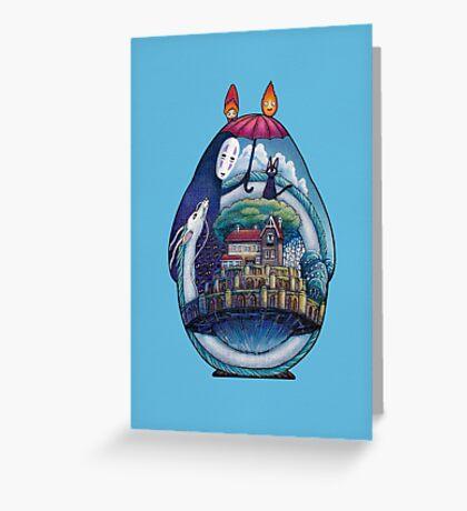 Miyazaki Totoro  Greeting Card