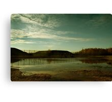 Reflections at the Missile Silos - Greenham Common Canvas Print