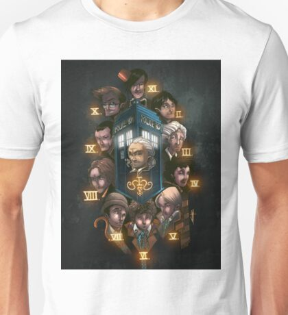 Dr Who All the Doctors Unisex T-Shirt