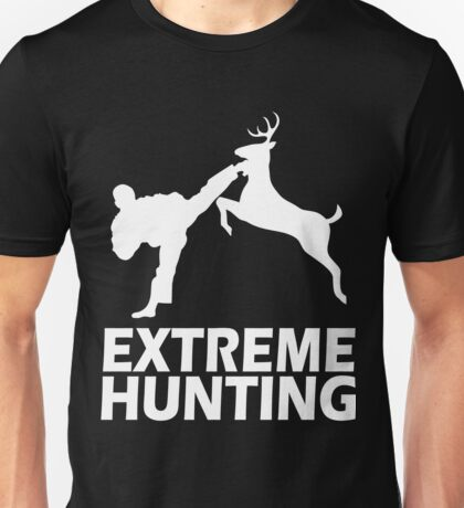 Extreme Hunting Deer Karate Funny Cute White T Shirt For Hunt Hunter Season Karate Unisex T-Shirt