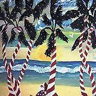 Santa On Sugar Cane Island by WhiteDove Studio kj gordon