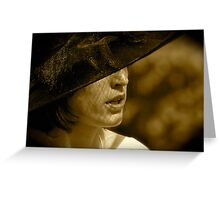 La Dame au Chapeau Greeting Card