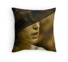 La Dame au Chapeau Throw Pillow