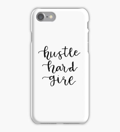 hustle hard girl iPhone Case/Skin